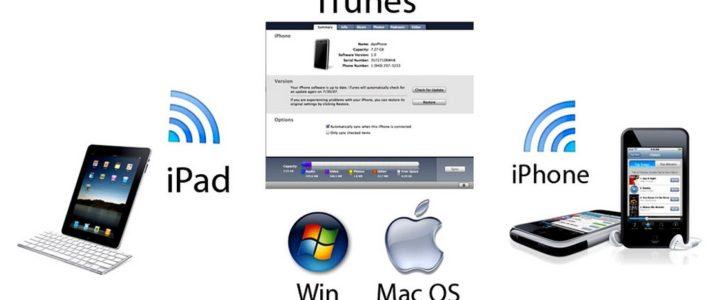 Синхронизация информации на устройствах Apple в приложении iTunes через персональный компьютер