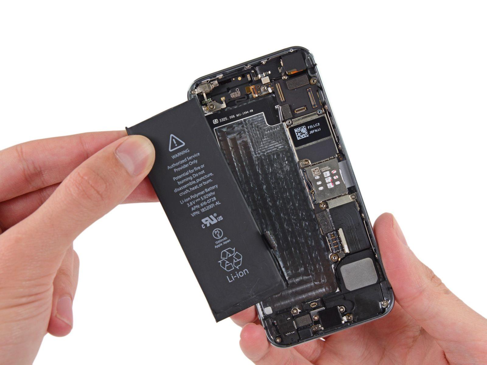 замене аккумулятора на айфон 5 с