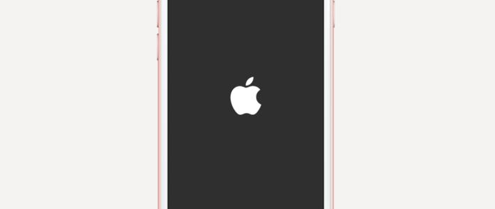 iPhone зависает на яблоке