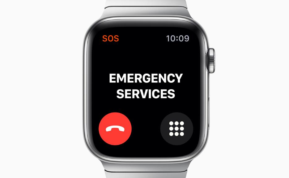 Об описании опции «Экстренный вызов – SOS» в часах Apple Watch